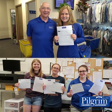 2018 Pilgrim Dry Cleaners Scholarship Winners