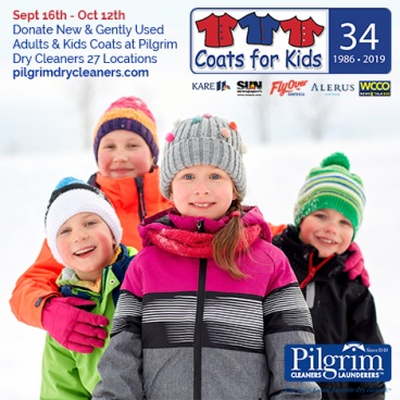 Help us collect 10,000 coats for our Coats for Kids drive!
